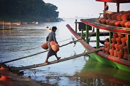River Life, Ayeyarwaddy River, Yandabo Village