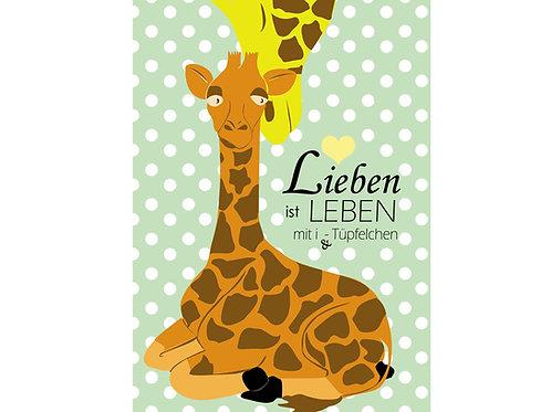 """Postkarte """"Lieben ist Leben mit i-Tüpfelchen"""""""