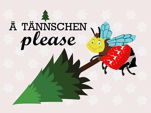 """Postkarte """"Ä Tännschen please"""""""""""