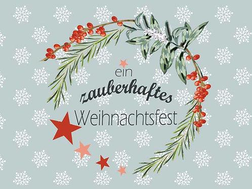 "Postkarte ""Zauberhaftes Weihachtsfest"""