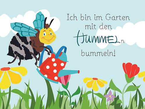 "Illustration ""Herr Hummel im Garten"""