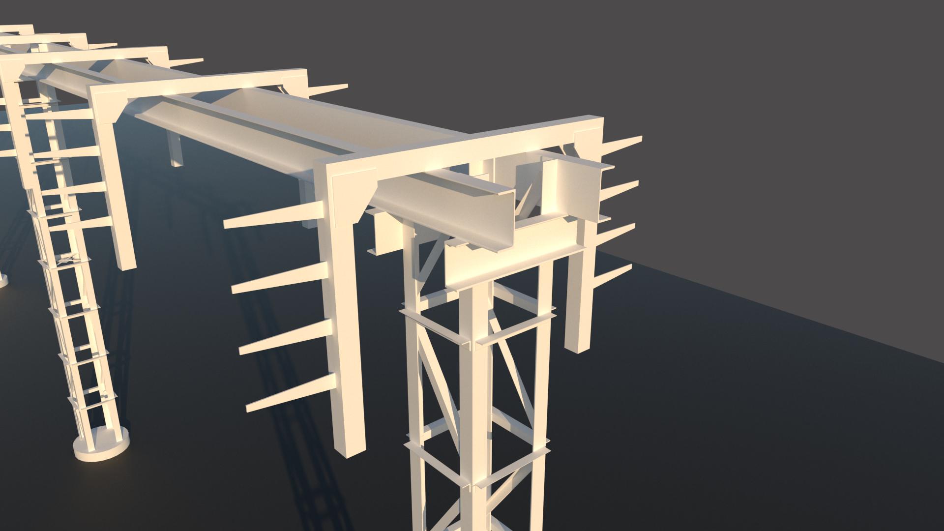 Фрагмент модели кабельной эстакады