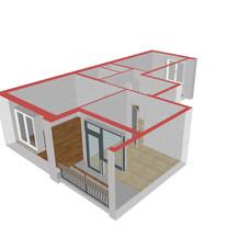 Модель 2-комнатной квартиры