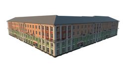 Угловой дом жилого квартала