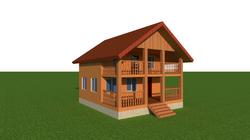 Эскиз каркасного дома