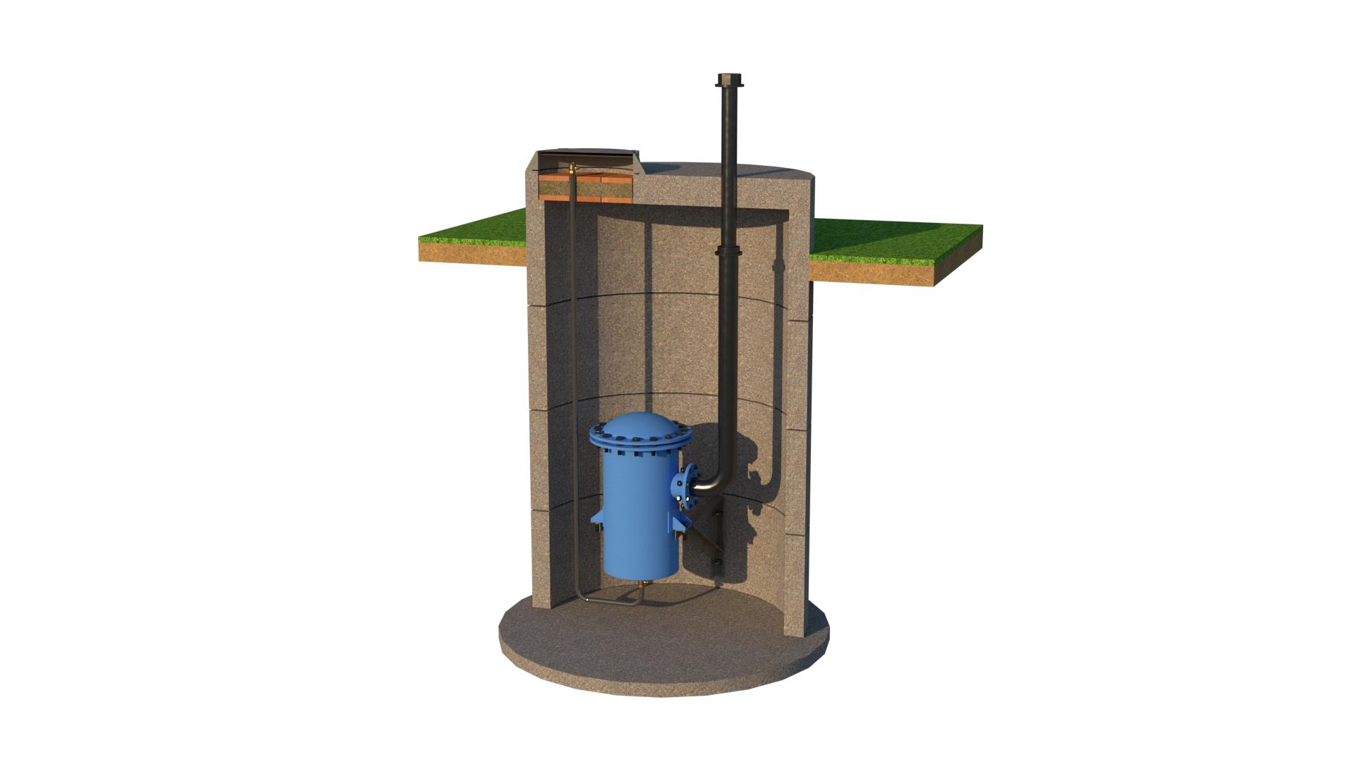 Водоотделитель в колодце