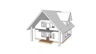 Анимационный обзор эскиза строения