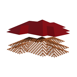 примыкающие крыши и навесы, стропильные системы в зависимости от конфигурации дома в реальных размерах.