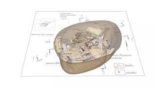 Облет камерой 3D-модели археологического раскопа