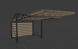 Навес в 3D-пространстве моделирования