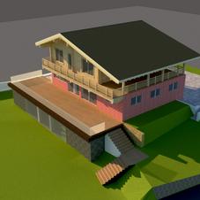 Эскиз проекта дома на реальном участке местности