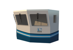 Судовая рубка. 3D-визуализация модели