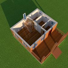 Планировка 1-го этажа дома