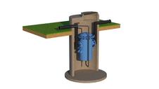 Водоотделитель проходной с установкой в колодце