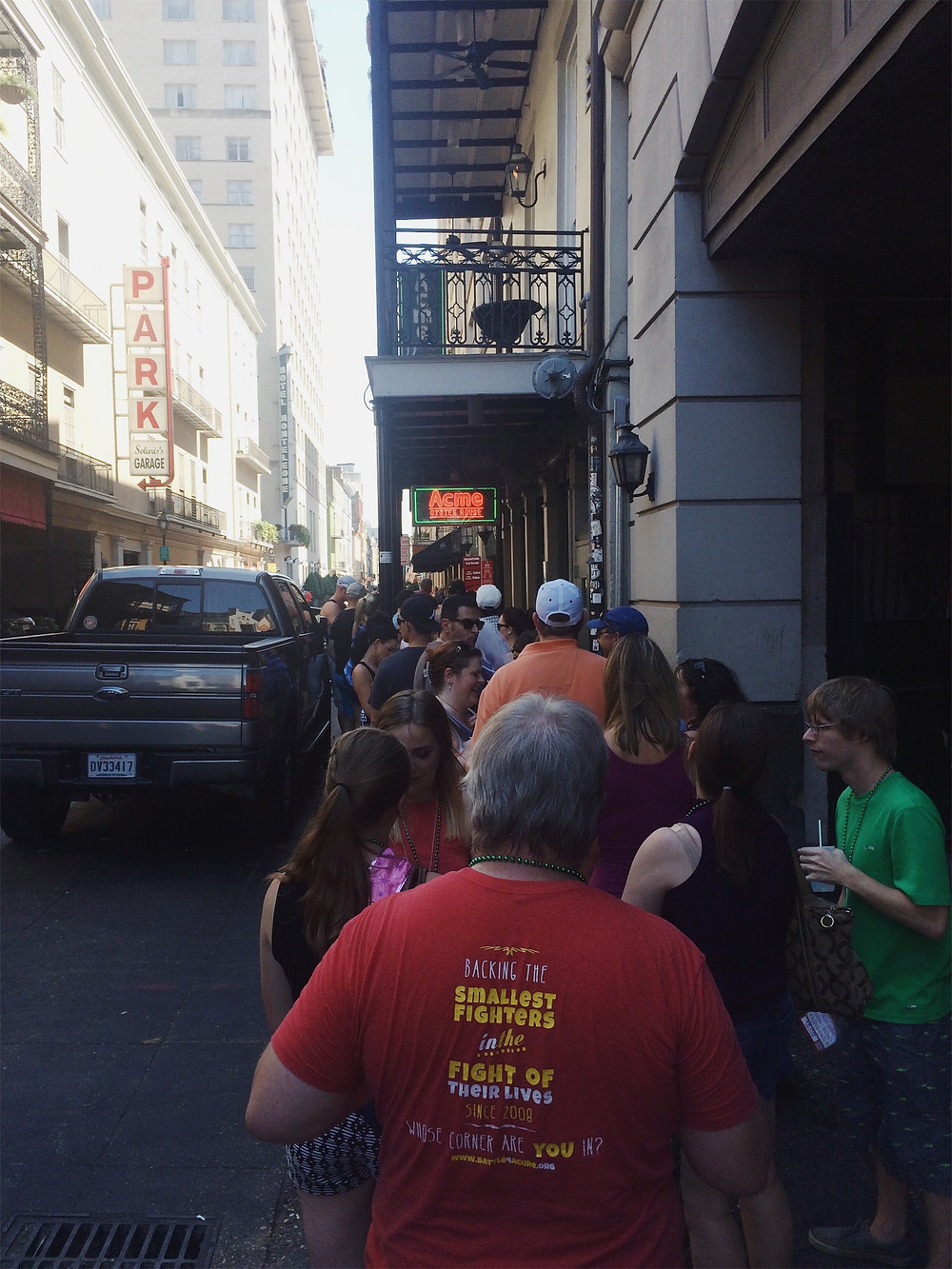The line outside Acme Oyster House