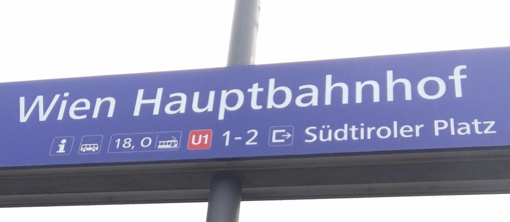 Train Station Sign in Vienna