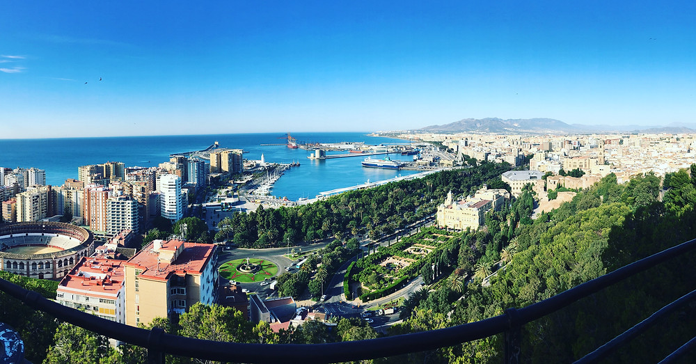 The City of Malaga from the Castillo de Gibralfaro