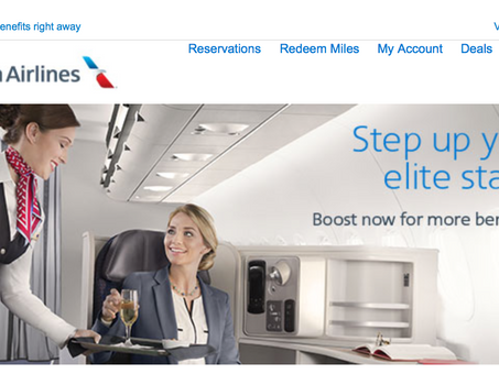 Gold status on American Airlines