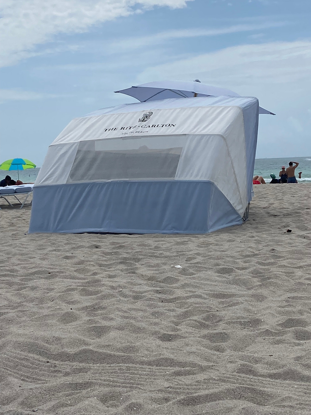 Beach Cabana at Ritz Carlton South Beach
