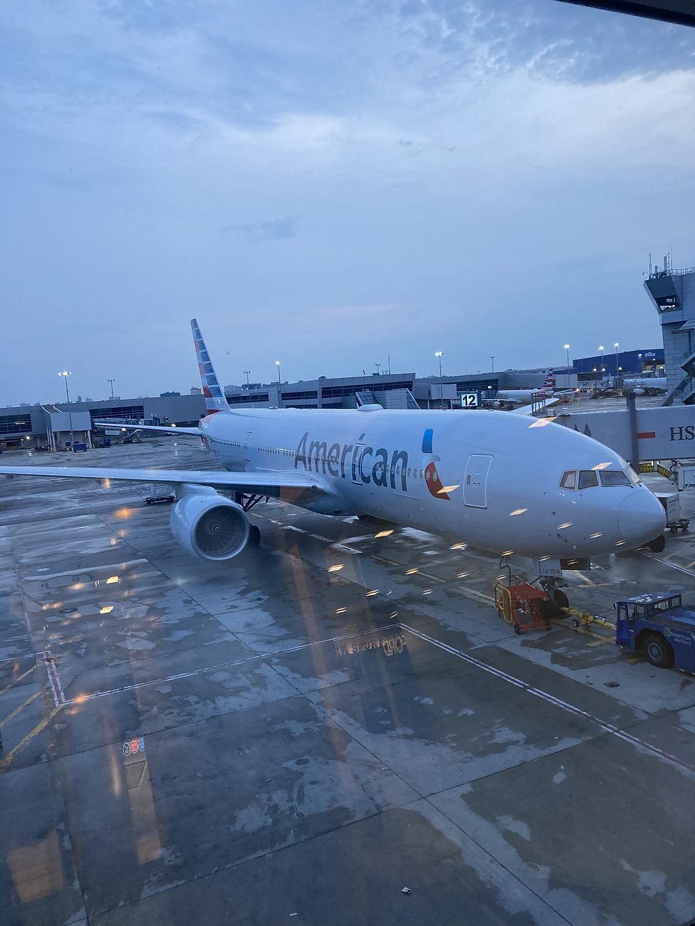 AA Flight #2268 on Boeing 777-300