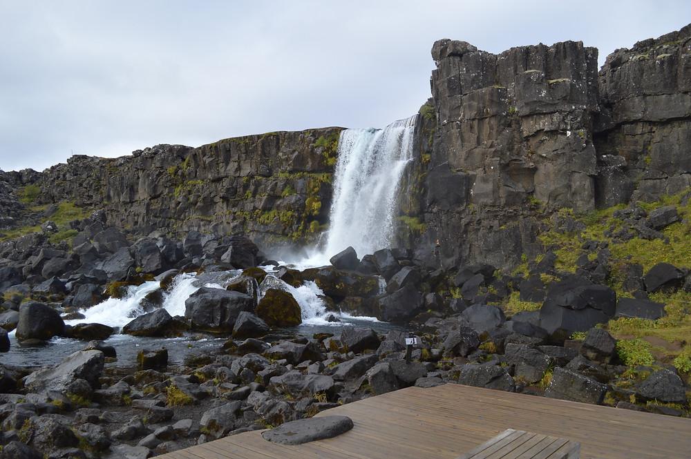 Oxararfoss in Thingvellir National Park, Iceland