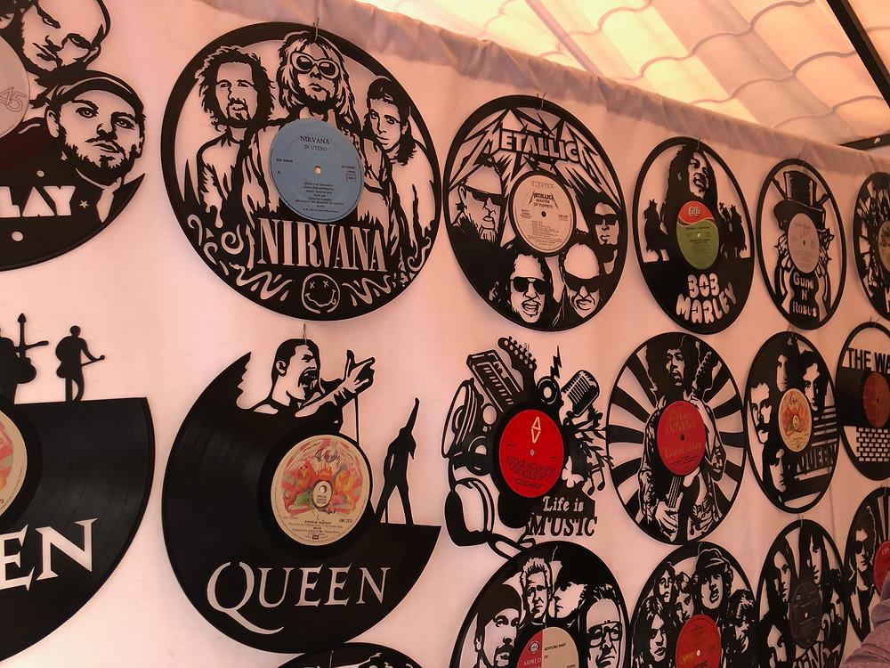 Art made from Vinyl records