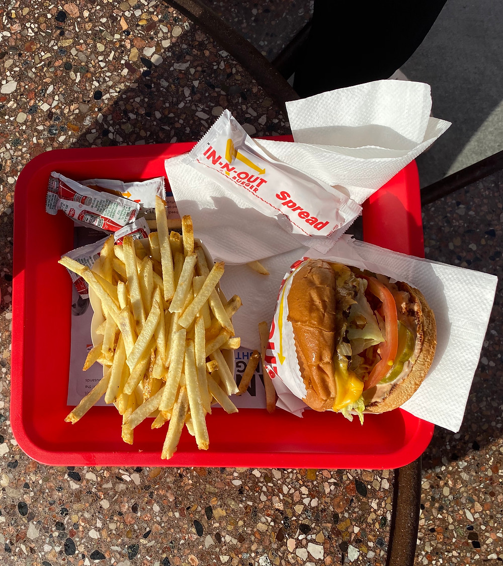 Animal Style at In and Out Burger