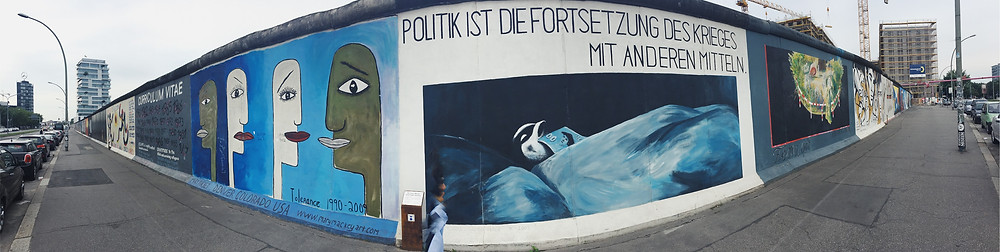 A portion of the Eastside Gallery, Berlin
