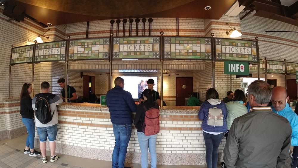 Ticket counter at the Heineken Museum
