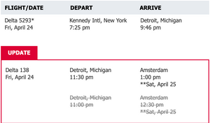 Itinerary for Kings Day