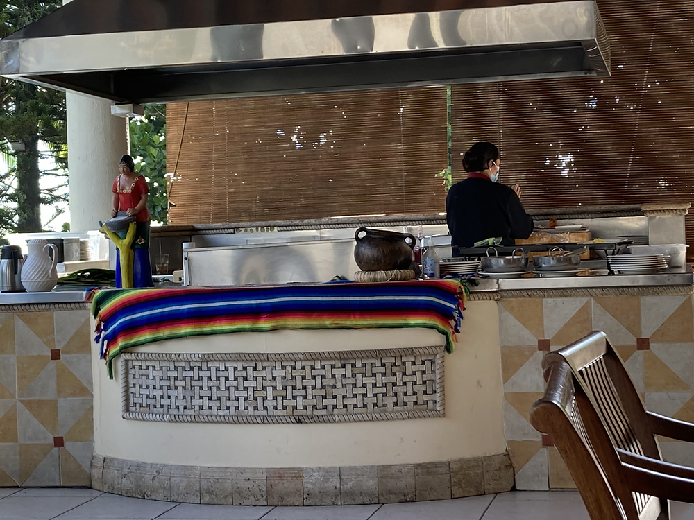 Papusa Stand at the Crown Plaza, San Salvador