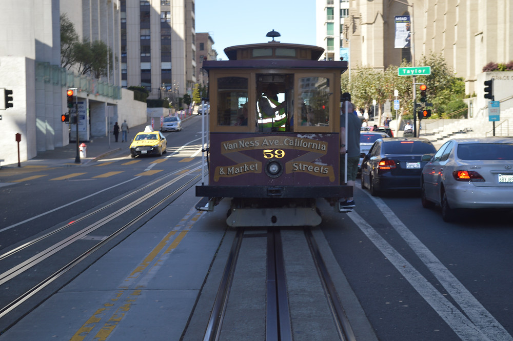 The Market Street Line making its way through San Francisco