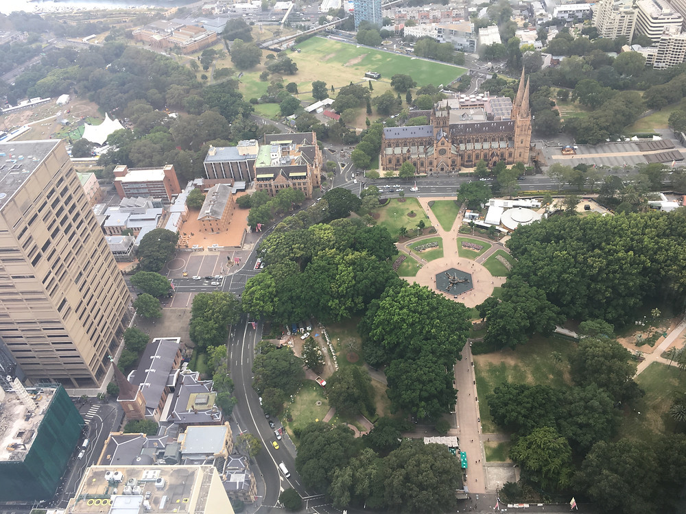 Hyde Park from the Sydney Tower