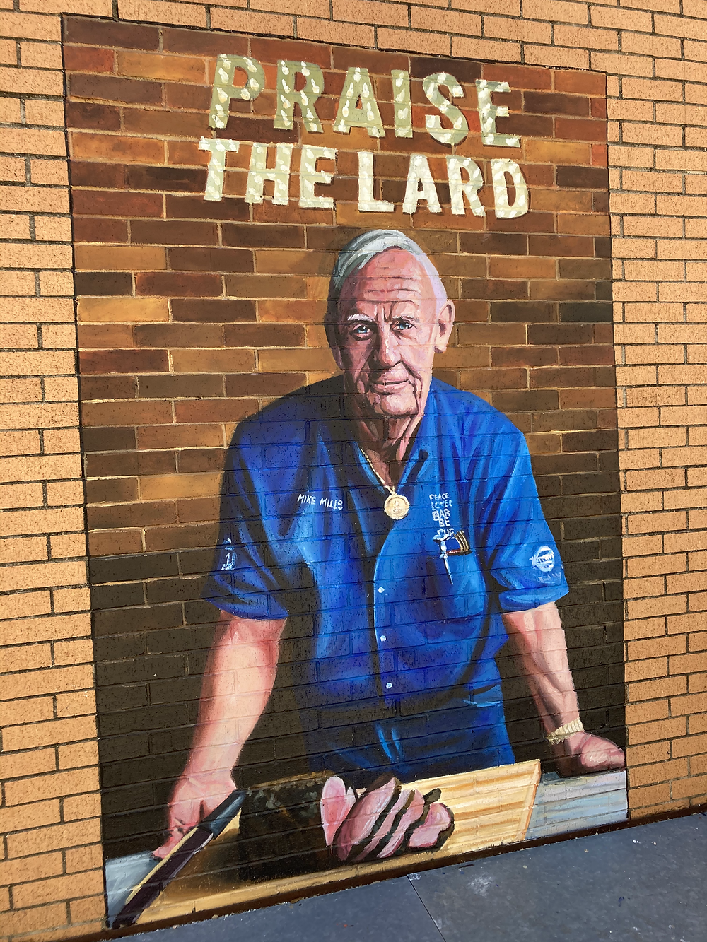 Mural outside of Cattleack BBQ,