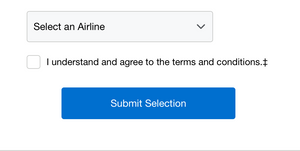 Choose an Airline from the list