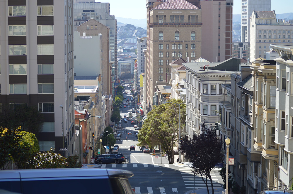 One of the many hills of San Francisco