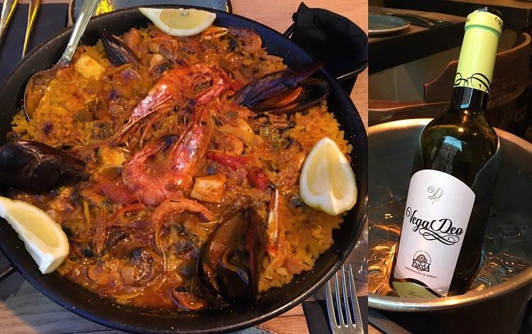 Paella and Wine