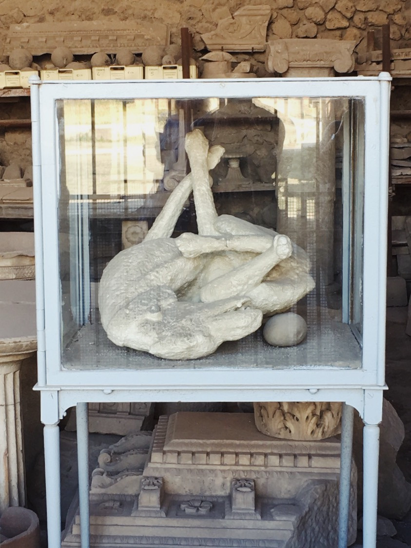 Plaster citizens of Pompeii