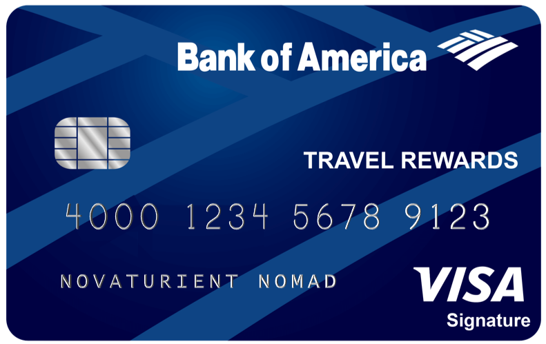 The Bank of America Travel Rewards Credit Card