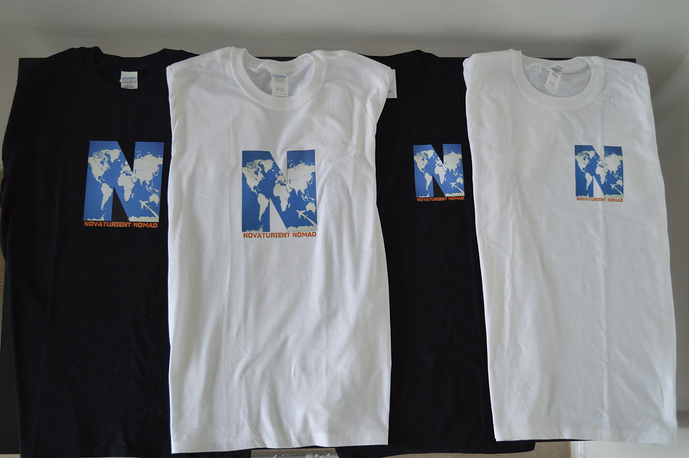 Novaturient Nomads T-Shirt's (my new travel swag)