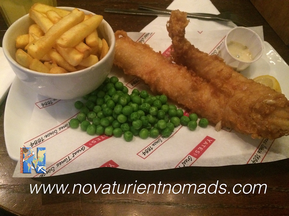 Fish and Chips from the Yates pub, Sheffield