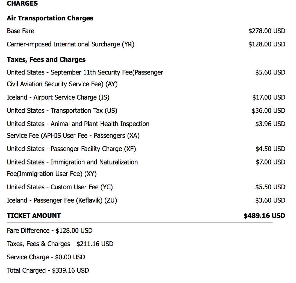 Fees Delta Airlines