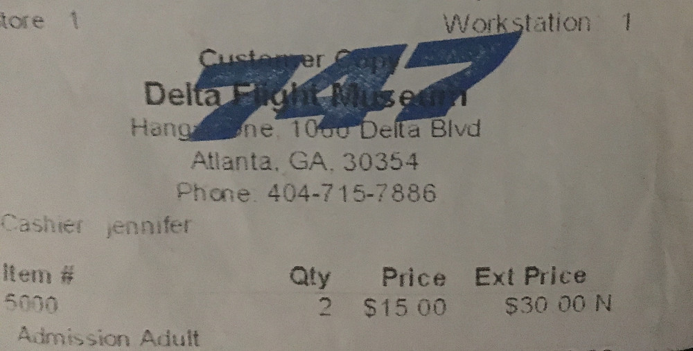 Delta Flight Museum Ticket
