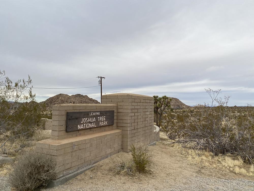 Joshua Tree National Park sign
