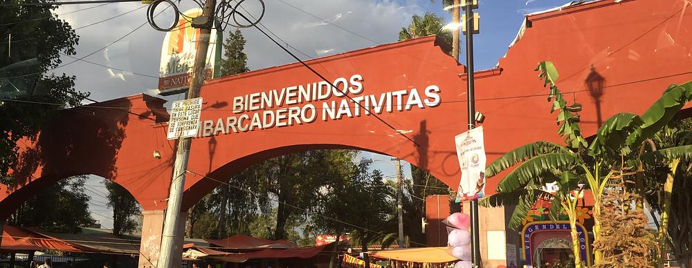 Market entrance, Xochimilco