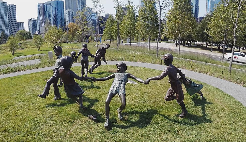 The Children Playing Statue, Navy Pier
