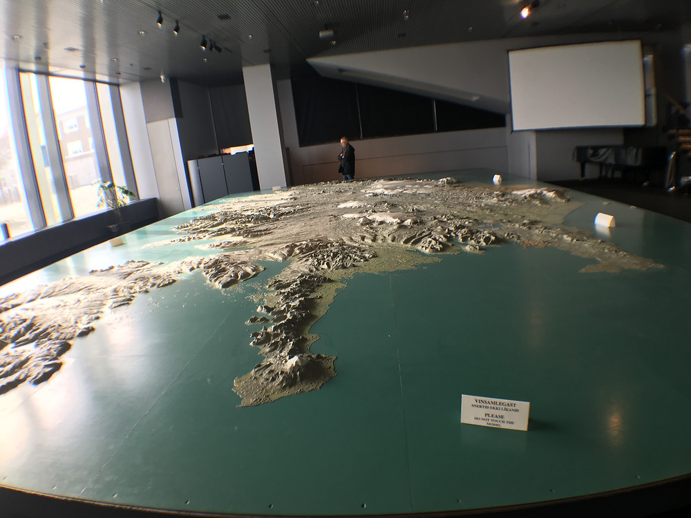 Map of Iceland in City Hall