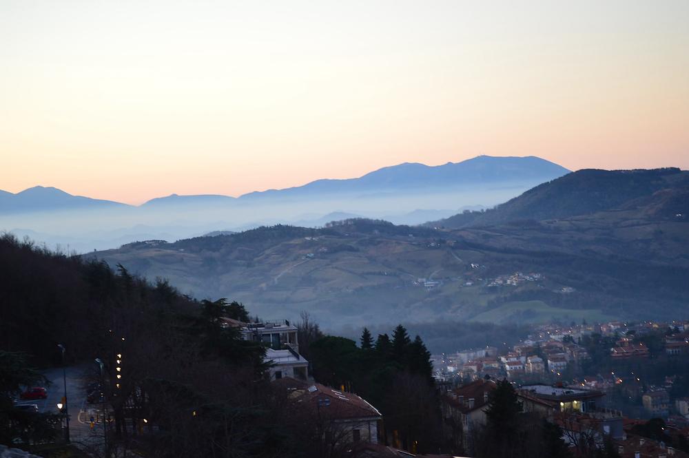 Drone Shot above San Marino