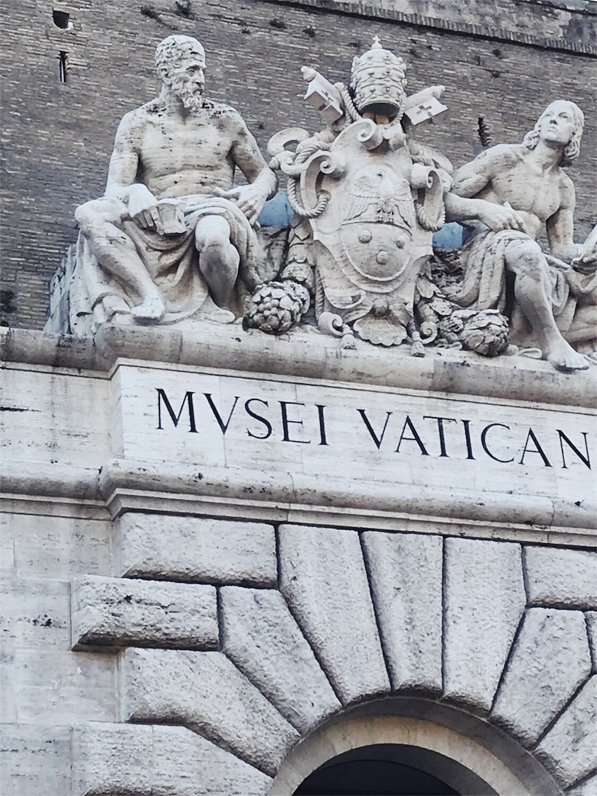 Statues above the entrance of Vatican City