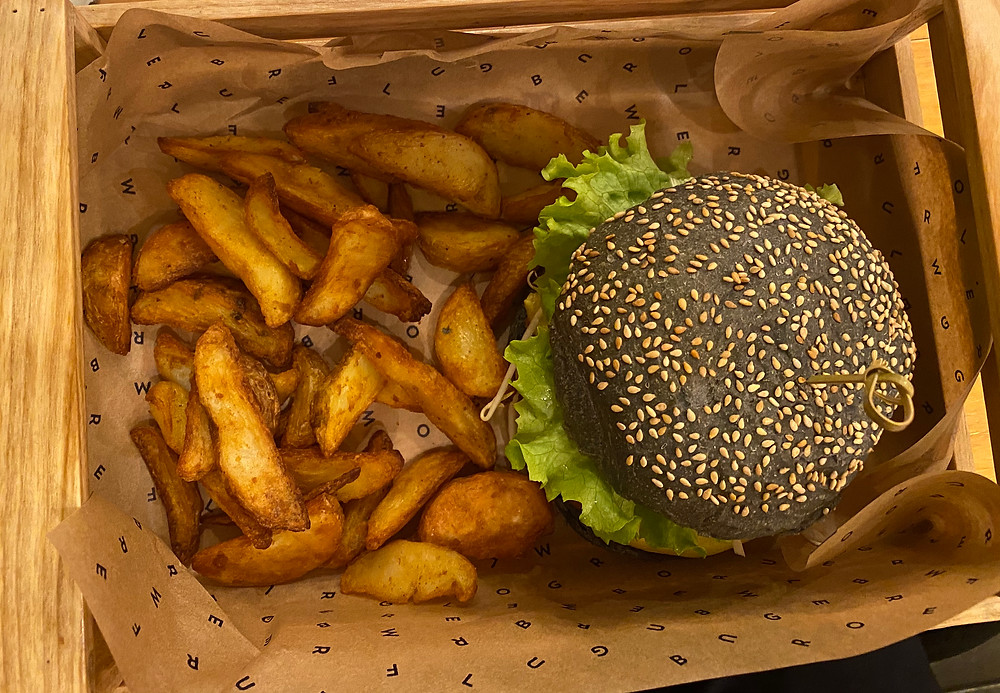Flower Burger and Fries